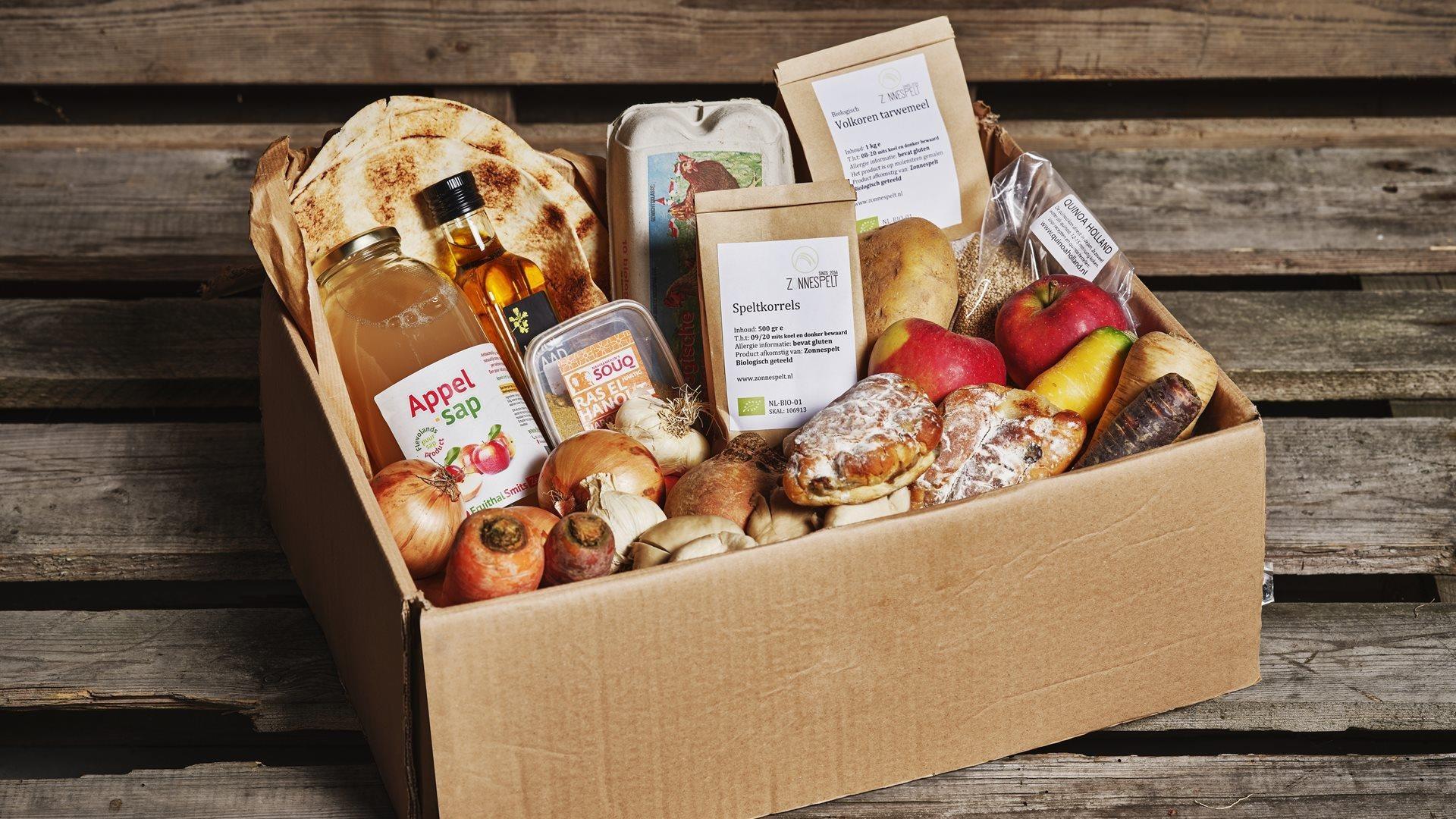 Flevour Box gevuld met groenten en fuit